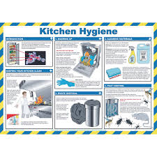 Food Hygiene Poster Laminated Kitchen Hygiene Poster 420 X 590mm Gls Educational Supplies