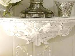wall sconce shelf ornate shelves baroque ideas golden pair wooden baro