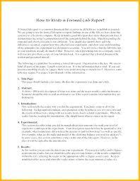 Formal Report Template Short Format Sample Business Word Re