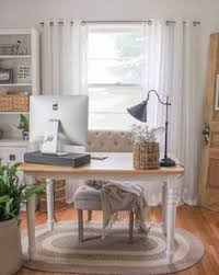 a home office. Feminine Home Office Inspiration. Love The Muted Palate. Soft And Airy. A