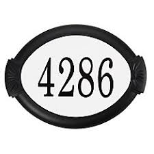 White Address Address Plaques The Home Depot Canada