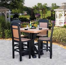 luxcraft square table set with four