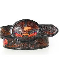 zoomed image silver creek men s belt tooled american heritage belt brown