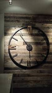 dazzling ideas oversized wooden clock rustic wall clocks awesome large wood and iron black