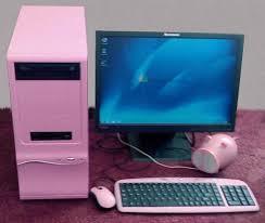 pink computer system i5 processor peppa pig speaker
