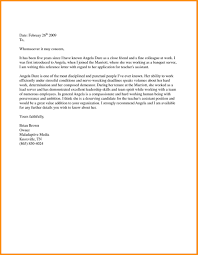 Recommendation Letter For A Friend Template Sample Job