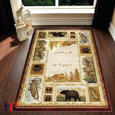 lodge area rugs cabin rugs lodge cabin nature and animals area rug modern geometric design cabin