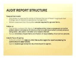 Audit Findings Report Template Internal Writing Format