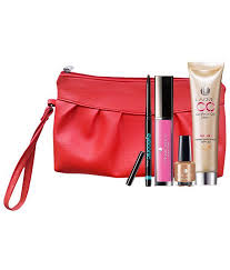 lakme makeup kit absolute lip gloss 5ml absolute nail paint 15ml lakme eyeconic kajal 35 g lakme plexion care cream30 ml