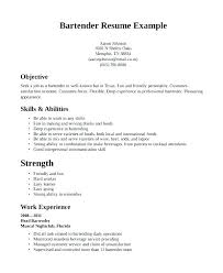 Bartender Resume Example Stunning Examples Of Bartender Resumes Bartender Resume Examples Server And