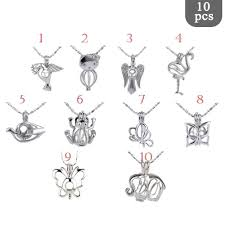 details about bulk 5pcs 10pcs sterling silver plated pearl cage pendant sp002 pearl oyster