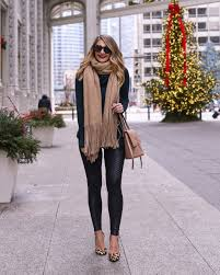 spanx faux leather moto leggings december instagram fashion roundup by chicago fashion blogger visions of