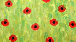 paint a field of poppies like monet