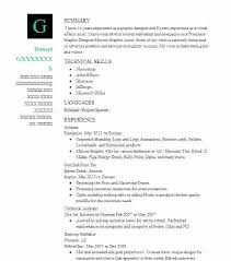 Motion Graphics Resume Motion Graphics Designer Resume Certified