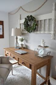 neutral office decor. farmhouse office makeover neutral decor