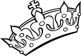 Small Picture Crowns Coloring Pages Crown Color Page Kings Clipart Best On