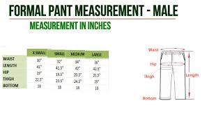 Dress Measurement Chart Mens Dress Measurement Chart For Pant Shirt By The Hdlife