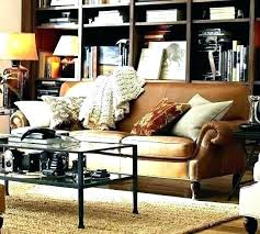 pottery barn leather couch turner sectional sofa