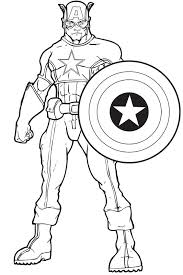 Small Picture Captain America Colotring Pages