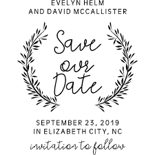 Save The Date For Wedding Whimsical Wedding Save The Date Stamp