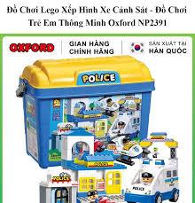 Đồ Chơi Lego Xếp Hình Xe Cảnh Sát - Đồ Chơi Trẻ Em Thông Minh Oxford NP2391  gồm 154 Mảnh Cỡ Vừa Cho Bé 1-6 Tuổi - Kích Thích Trí Não Handskid