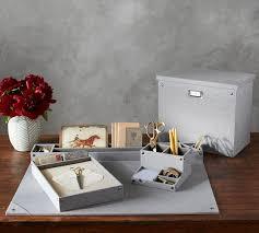 desk accessories.  Accessories Gray Blythe Linen Desk Accessories On K