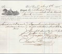 Example Of Bill Of Lading Document The Purpose Of The Bill Of Lading