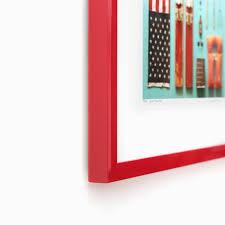 Red Photo Frames Madrid Modern Red Laquered Custom Frame Framebridge