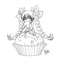 Cupcake By Sureya On Deviantart Coloring
