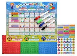 Reusable Reward Charts For Toddlers Zonjot Magnetic Star Reward Chore Chart For Toddlers And