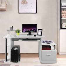 home office desktop pc 2015. Belovedkai Computer Desk PC Laptop Table Workstation Home Office With Keyboard Tray And Drawer Corner Furniture Bright White Cyber Monday 2015 Desktop Pc A