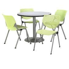 kool furniture. Beautiful Furniture Pedestal Breakroom Table With 4 Lime KOOL Series Stack In Kool Furniture