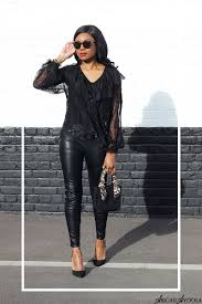 how to wear leather lace