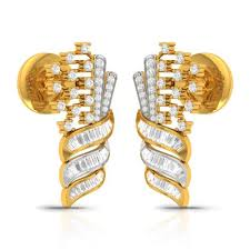 flash and flame diamond gold earrings cjer0495 y