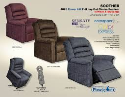 catnapper soother 4825 lift chair recliner colors
