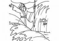 Coloring Pages Moses Red Sea With Moses Coloring Sheets Printable