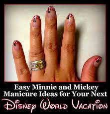 Easy Minnie and Mickey Manicure Ideas for Your Next Disney Vacation -  Disney's Cheapskate Princess