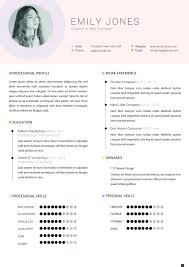 Colors Resume Template Modern Clean Cv Cover Letter Template