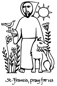 St Francis Of Assisi Printable Coloring Page With Saint Francis Of