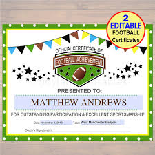Afl Tipping Chart 2018 Printable Editable Football Award Certificates Instant Download Team