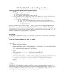 Example Of Rhetorical Analysis Essays Writing A Good Rhetorical Analysis Essay College Paper Sample