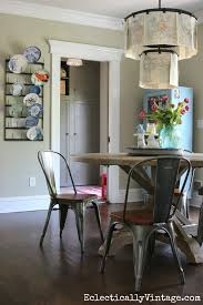 modern farmhouse kitchen love the round table and industrial chairs with clip chandelier kellyelko