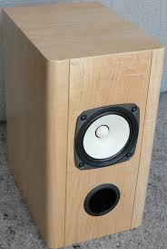 finished fostex fe127e bass reflex bookshelf speaker