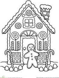 Small Picture Gingerbread House Coloring Pages Adult and Childrens Coloring