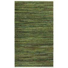 green cotton 2 ft x 5 ft rag runner