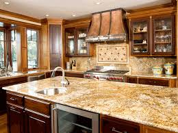kitchen with granite island and l shaped counter with sink bob s granite place
