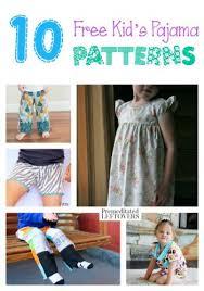 Pajama Patterns Enchanting 48 Free Kids' Pajama Patterns