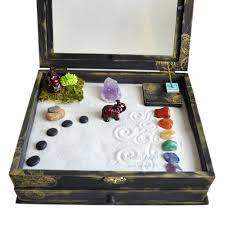 zen garden meditation box  made to order  buddha by neonfoxart