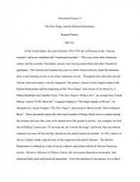 the new negro and the harlem renaissance essay zoom