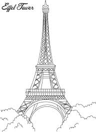 Small Picture Eiffel tower coloring printable page for kids Coloring pages of